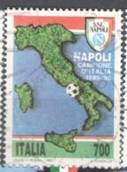 Italy Used 1990 Football, Soccer, Calcio, Naples Football Club, Italian Champions - 1981-90: Usados