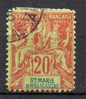 Col17  Colonie Sainte Marie De Madagascar N° 7 Oblitéré Cote 35,00 € - Oblitérés