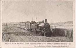 """BELGIAN STATE RAILWAY-BELGISCHE SPOORWEGEN """" TRAIN DE LUXE """" - Eisenbahnen"""