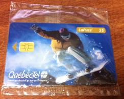 CANADA TELECARTE LAPUCE QUÉBECTEL SURF DES NEIGES SNOWBORD PHONECARD NEUVE CARD 5$ QUEBEC - Canada