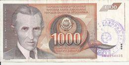 BOSNIE HERZEGOVINE 1000 DINARA ND1992 VF P 2 A - Bosnië En Herzegovina