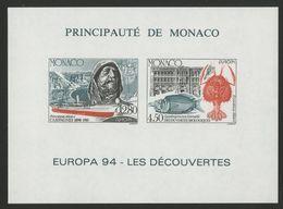 "MONACO Cote 230 € BLOC SPECIAL NON DENTELE N° 23a ""EUROPA 1994"" Neuf ** (MNH). TB/VG - Blocchi"