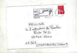 Lettre Flamme Lodeve Tour De France - Marcophilie (Lettres)