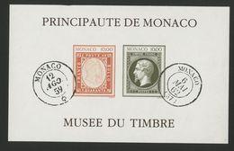 """MONACO Cote 250 € BLOC NON DENTELE N° 58a """"Création Du Musée Du Timbre En 1992"""" Neuf ** (MNH). TB/VG - Blocks & Sheetlets"""