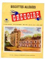 Buvard Biscottes Gregoire Levallois Perret Numero N 144 Chateau Keraveon Erdeven Morbihan Monument Batiment - Zwieback