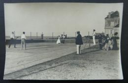CPA Match De Tennis Au Bord De La Mer Année 1900 ? Arromanches ? - Tennis