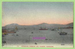 HONGKONG. Harbour And Warship. COLOR. Vintage, Good Condition. - China (Hongkong)