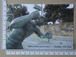 PORTUGAL - MONUMENTO AO PEDREIRO -  VILA NOVA DE GAIA -   2 SCANS     - (Nº36498) - Porto