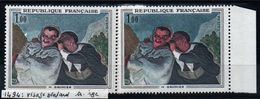 YT N° 1494 - Visage Blaffard + Rouge - Neufs ** - Errors & Oddities