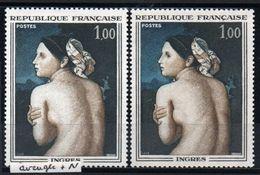 YT N° 1530 - Oeil Blanc (Aveugle) + Normal - Neufs ** - Errors & Oddities
