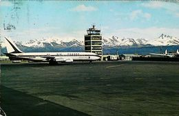 ANCHORAGE  INTERNATIONAL AIRPORT  - AIR FRANCE   1960s -  (Avion Aircraft Flugzeug) - Aerodromes
