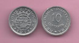 SAN TOMAS Y PRINCIPE - 10 CENTAVOS 1971 - São Tomé Und Príncipe