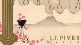 Carte De Visite Calendrier 1935 1936 Pompeta Parfum LT Piver Paris - Calendarios