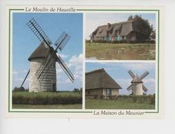 Hauville : Moulin De Pierre (àvent) Et Maison Du Meunier  (parc Naturel Régionnal Brotonne) Cp Vierge Multivues - Otros Municipios