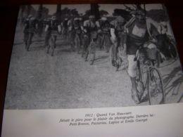 CYCLISME COUPURE LIVRE C286 PARIS BRUXELLES 1912 VAN HAUWAERT Fait Le PITRE - Sport