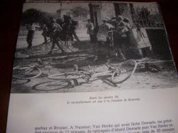 CYCLISME COUPURE LIVRE C287 PARIS BRUXELLES RAVITAILLEMENT FONTAINE De ROUVRAY - Sport