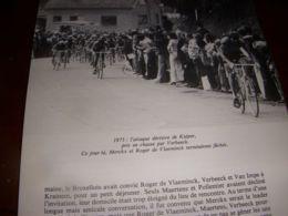 CYCLISME COUPURE LIVRE C292 CHAMPIONNAT Du MONDE 1975 Hennie KUIPER - Sport