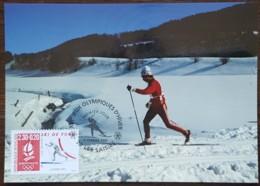 CM 1991 - YT N°2678 - JEUX OLYMPIQUES D'ALBERTVILLE / SKI DE FOND - LES SAISIES - Cartes-Maximum