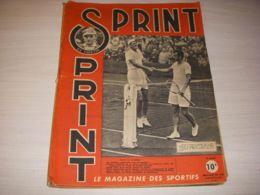 SPORTS SPRINT 032 12.06.1946 TENNIS COUPE DAVIS PETRA CYCLISME BORDEAUX PARIS - Sport