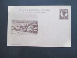 Australien 1898 Queensland Post Card Bildganzsache Brisbane River From Parliament House Entier Postal Ungebraucht - Briefe U. Dokumente