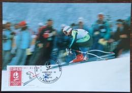 CM 1992 - YT N°2710 - JEUX OLYMPIQUES D'ALBERTVILLE / SKI ALPIN - ALBERTVILLE - Cartes-Maximum