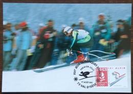 CM 1991 - YT N°2710 - JEUX OLYMPIQUES D'ALBERTVILLE / SKI ALPIN - VAL D'ISERE - 1990-99