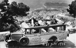 BUS-AUTOCARS-CARTE-PHOTO MONACO, MONTE CARLO - Buses & Coaches