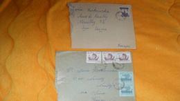 LOT DE 2 ENVELOPPES DE 1965 ET 1966 ?.. ../ POLOGNE CACHETS + TIMBRES - 1944-.... Republic