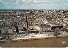 33 - Bordeaux - Les Quais Sur La Garonne Avec La Place De La Bourse - Au Fond, Le Grand Théâtre Et Le Centre Ville - Bordeaux