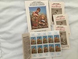 Contre La Tuberculose 1974-75, 4 Carnets 10 Timbres 1f Et Une Pochette - Erinnophilie
