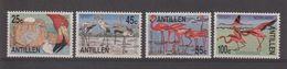 Antilles Néerlandaises 1985 Oiseaux Flamand Rose 732-35 4 Val ** MNH - Antillen