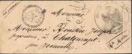 Haute Marne 52 CAD Perlé T22 ORQUEVAUX (50) 4 7 1861 + Taxe Tampon 30 Boite Rurale B Busson + Cachet Mairie Busson Aigle - Marcophilie (Lettres)