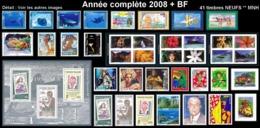 POLYNESIE Année Complète 2008 + BF (NEUF ** MNH) : Yv. 824 à 861 Dont Carnet + BF 34  (41 Tp)  ..Réf.POL25076 - Polynésie Française