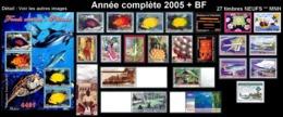 POLYNESIE Année Complète 2005 + BF (NEUF ** MNH) : Yv. 738 à 760 + BF 31  (27 Tp)  ..Réf.POL25073 - Polynésie Française