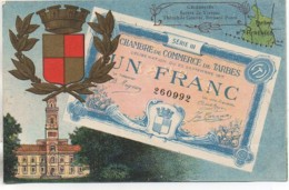 65 TARBES  Carte Représentant Un Billet De La Chambre De Commerce - Tarbes