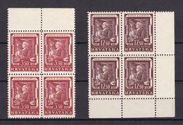 Kroatien - 2. Weltkrieg Besetzung - 1944 - Michel Nr. 148/149 Viererblock - Postfrisch - Besetzungen 1938-45