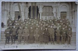 Photo LOURDES ABL Blessés Aumonier Officiers  1918 Belgische Leger Armée Belge Militaria Vers Geet Betz - Guerre, Militaire
