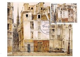 FRANCE.CARTE MAXIMUM. N°207566. 26/01/2020. Cachet Paris. Léonard Foujita. Le Quai Aux Fleurs - Cartoline Maximum