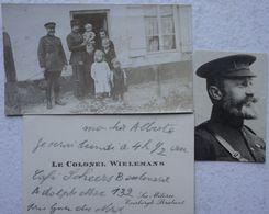 Photo ABL Colonel Wielemans Uit Les Mélèzes Everberg Belgische Leger Armée Belge Miitaria - Guerre, Militaire