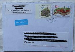 Cover Brief  Lettre  2008  Pour La France Timbres - Czech Republic
