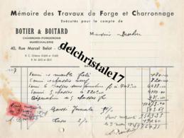 45 0023 OLIVET LOIRET 1947 Travaux De Forge Et Charronnage BOTIER & BOITARD Maréchalerie Rue Marcel BELOT À M. BROCHON - Frankreich