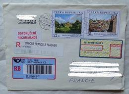 Cover Brief  Lettre Recommandé 2005  Pour La France Timbre  Peinture  . Vignette R France - Czech Republic