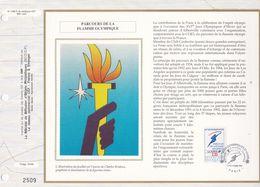 CEF Feuillet  N° 1068 Soie  -  PARCOURS DE LA FLAMME OLYMPIQUE  -  PARIS   14 Nov. 1991 - Documentos Del Correo