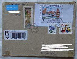 Cover Brief  Lettre Recommandé 2011  Pour La France Timbre  Peinture  Mucha Et Sisley - Czech Republic