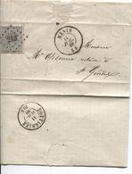 REF12/ TP 17 S/LAC écrite De Gheluwe 10/4/68 C.Menin 11/7/68 + LOS 243 Boîte > Saint Genois C.d'arrivée Dottignies - Oblitérations à Points