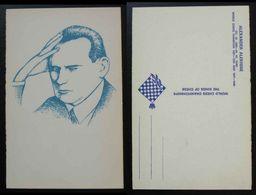 Chess Schach Card Serbia World Champioship Alexander Alekhine Fide Sport Game  C26 - Autres