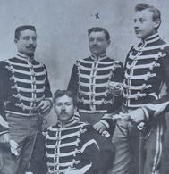 Photo ABL CAVALERIE Sous Officiers Lancier ? Lansier ? Chasseurs à Cheval ? Belgische Leger - War, Military