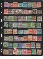 United States, Precancels, 500 + Unchecked,  Cat $ ?,  Unused, Used, Some Gum No Gum, (see Note Below) - Sammlungen (ohne Album)