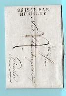 M.En.5 MP BASEL 26 Nov 1814  + Suisse Par Huningue =Type 2. Pour Guebwiller - Marcofilia (sobres)