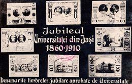 IASI / JASI / JASSY : JUBILEUL UNIVERSITATEI Din JASI : 1860 - 1910 : TIMBRE JUBILIARE APROBATE De UNIVERSTATE - (ae971) - Roumanie
